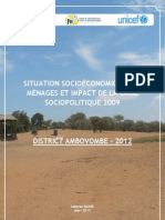 SITUATION SOCIOÉCONOMIQUE DES MÉNAGES ET IMPACT DE LA CRISE SOCIOPOLITIQUE 2009 - DISTRICT AMBOVOMBE - 2012