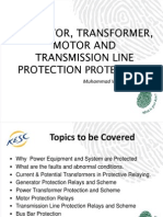 Lecture Presentaion on Generator, Transformer, Motor and Transmission Line Protection.pptx