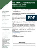 2013 Newsletters Week9