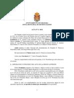 Acta Junta Municipal Distrito Zaidín marzo 2013