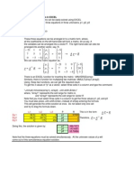 Solving Simultaneous Equations in EXCEL