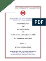Tender Doc for Elevator Works