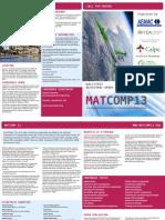 MATCOMP'13, Brochure & Programme