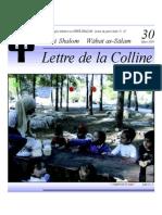 Lettre de la Colline No. 30 (Mars 2009)