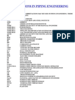 Abbreviations in Piping Engineering