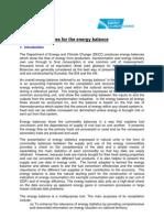 367 Energy Balance Statistics Methodology