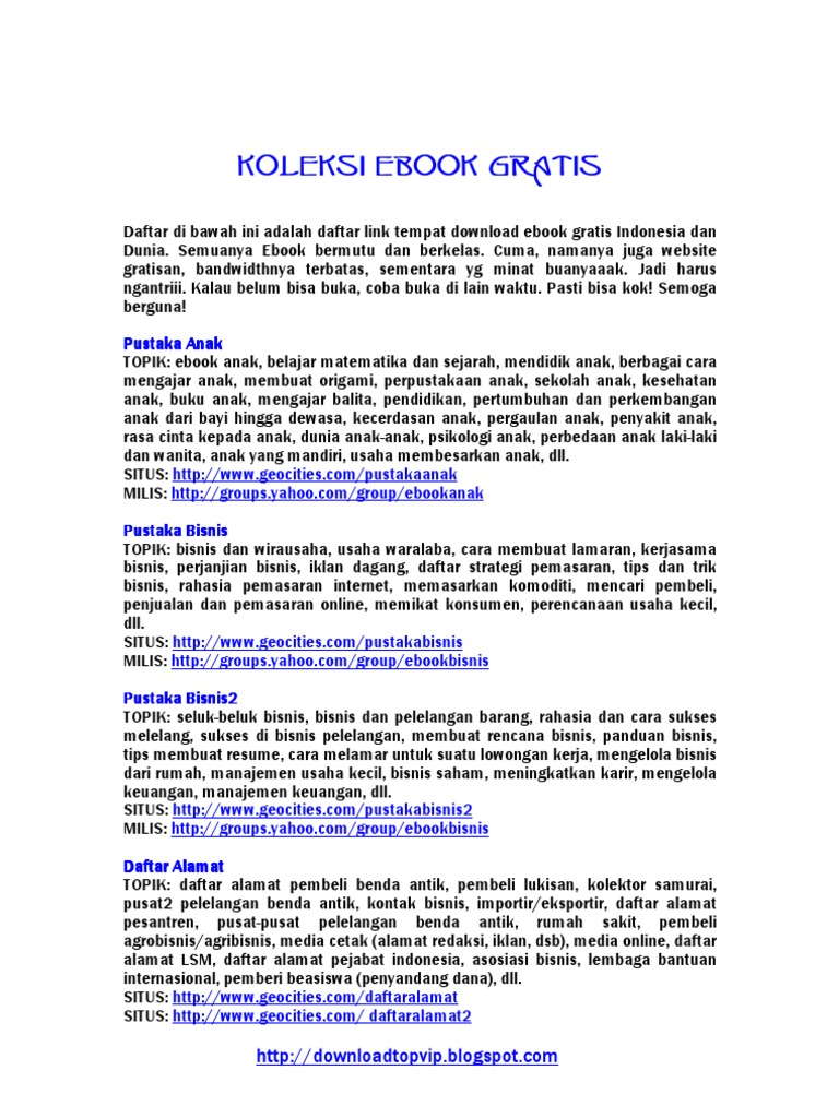 Link Ebook Indonesia