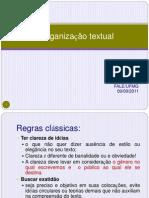 A organizacao textual 2011.ppt