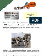Publicado edital do concurso da PRF são 1.000 vagas com salários de mais R$ 6 mil
