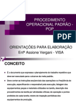 POP - Procedimentos Operacionais Padrão