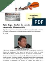 Após fuga, diretor de cadeia na Paraíba é exonerado, diz secretário