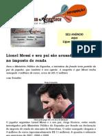 Lionel Messi e seu pai são acusados de fraude no imposto de renda