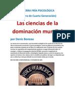 Las ciencias de la dominación mundial por Denis Boneau