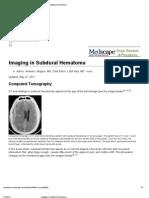 15. Imaging in Subdural Hematoma