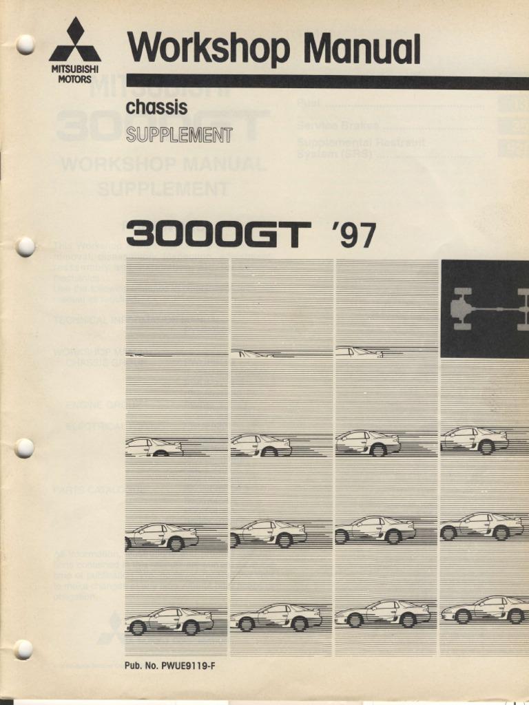 Workshop Manual Chassis Supplement Mitsubishi 3000 GT 1997 Euro | Ignition  System | Anti Lock Braking System