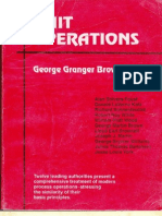 Unit Operations by G.G.brown