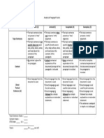 Analytical Paragraph Rubric