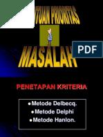 PENENTUAN PRIORITAS MASALAH