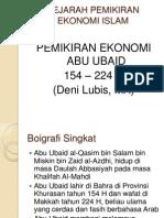 Pemikiran Ekonomi Abu Ubaid