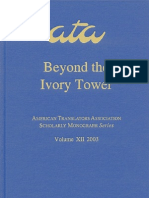 Beyond the Ivory Tower - Rethinking Translation Pedagogy