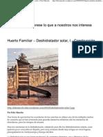 Huerto Familiar – Deshidratador solar, I