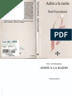 Feyerabend Paul Adios a La Razon