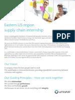 Supply Chain Internship - From Univar