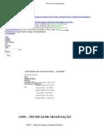 ATPS Tecnicas de Negociação