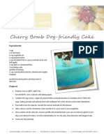 Cherry Bomb Dog-Friendly Cake