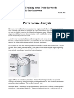 Parts Failure Analysis