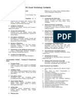MS Excel Workshop Contents-Himanshu Jain