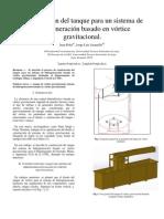 construcción del tanque para un sistema de hidrogeneración basado en vórtice gravitacional