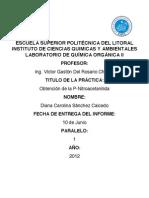 Informe de Laboratorio de Química Orgánica II