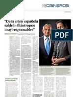 De la crisis española saldrán filántropos muy responsables. Revista Expansión.