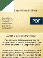 Fecha de Nacimiento de Jesus