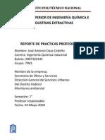Reporte Practicas Profesionales Monitoreo Ambiental Listo