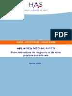 Aplasie Medullaire HAS Fev 2009