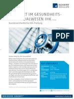 Datenblatt Fachwirt im Gesundheits- und Sozialwesen IHK