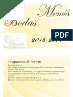 Menus Bodas 2014