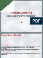 Personal MasteringAcquisizione Informazioni ^'v'^