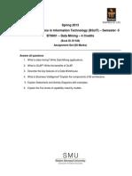 BT9001 Assignment Spring 2013 Data Mining