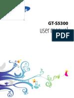 Samsung Gt s5300 Manual