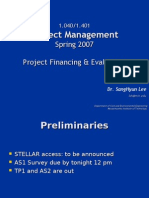 Lecture 2 Project Financing & Evaluation
