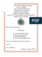 TRABAJO DE LEGISLACION LEY DE DISEÑOS INDUSTRIALES