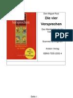Ruiz Don Miguel Die Vier Versprechen Das Weisheitsbuch Der Tolteken Heiler Und Schamanen