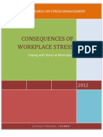 Consequences of Work Place Stress