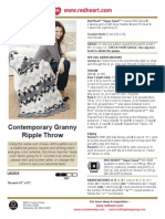 Contemporary Granny Ripple Throw Crochet Pattern