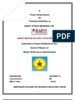 73627245 Demat Services of Karvy Stock Broking Ltd
