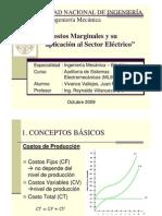 Costos Marginales y su aplicación al Sector Eléctrico