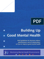 Buiding Up Good Mental Health Guidelines